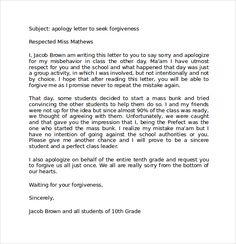 Dissertation apology