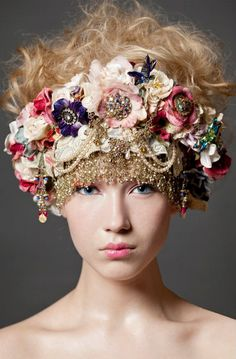 interesting beaded flower crown