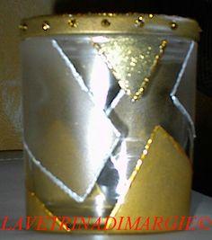 glass vase decorated