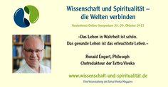 Ronald Engert - Wissenschaft und Spiritualität - das Online-Symposium