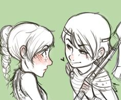Hiccup and Astrid - genderbend