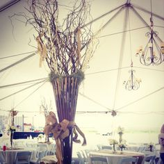 Country tent wedding by BoydsBlossoms