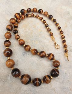 Handmade Gemstone Jewelry for Women Tiger Eye by GodivasJewelryBox, $36.00