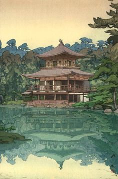 there's something a little bit Studio Ghibli about Hiroshi Yoshida