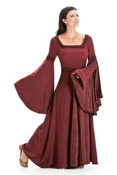Arwen Square Neck Renaissance Medieval Princess Gown Dress