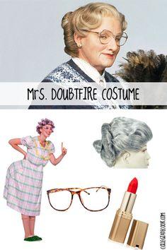 #Halloween13: Robin Williams Costume Ideas (Day 2) - Mrs. Doubtfire