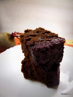 Whole Wheat Beetroot cake Recipe(Sugar-less, Butter-less