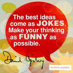 #DavidOgilvy #Quote #Jokes #Advertising
