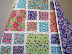 """""""Sweet Tooth Baby Girl Quilt (from NowandThenQuilts via etsy)"""