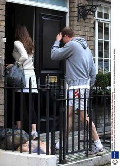 27 Feb 2010, William going into Kate's flat.