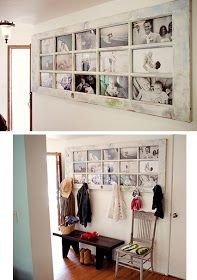 This is exactly what I need to do at our front door. Add the Expedit shelf made into a bench and I'm done!