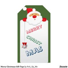 Merry Christmas Gift Tags Pack Of Gift Tags