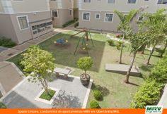 Paisagismo do Unione. Condomínio fechado de apartamentos localizado em Uberlândia / MG.