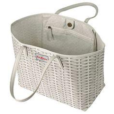 Wicker Large Leather Trim Tote Cath Kidston Bags, Wicker, Shoulder Bag, Leather, Shopping, Shoulder Bags, Loom