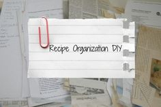 Recipe Organizer DIY | The Glamorous Housewife