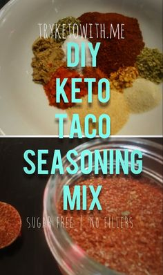 Me DIY Keto Taco Seasoning Mix - TryKetoWith.Me DIY Keto Taco Seasoning Mix Recipe<br> Add this keto taco seasoning to beef, chicken, veggies, or other fillings to make your next taco Tuesday a hit. Taco Seasoning Mix Recipe, Low Carb Taco Seasoning, Seasoning Mixes, Keto Cookies, Taco Mix, Keto Taco Salad, Taco Spice, Keto Sauces, Low Carb Tacos