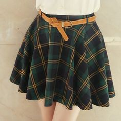 Cute sweet college wind plaid skirt Cute Kawaii Harajuku Fashion Clothing & Accessories Website.  Sponsorship Review & Affiliate Program opening!