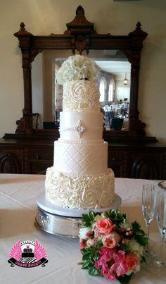 White Wedding by Cakes ROCK!!!   - http://cakesdecor.com/cakes/248092-white-wedding