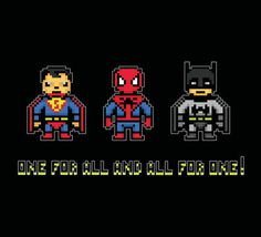 'One for All and All for One!' pixel art by pixeldelay on artflakes.