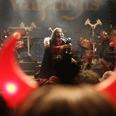 Artist group 'Corvus Corax' playing for the 'Walpurgisfest'