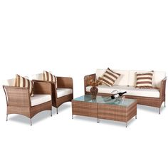 Huntington Caramel 5-piece Outdoor Furniture Set - Overstock™ Shopping - Big Discounts on Sofas, Chairs & Sectionals