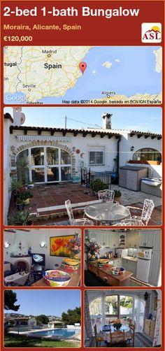 2-bed 1-bath Bungalow in Moraira, Alicante, Spain ►€120,000 #PropertyForSaleInSpain