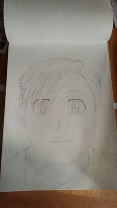 Initial Drawing of Alphonse Elric - Fullmetal Alchemist