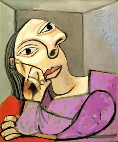 """Pablo Picasso - """"Woman Leaning 1"""", 1939"""