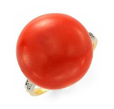 FD Gallery | An Art Deco Coral and Diamond Ring