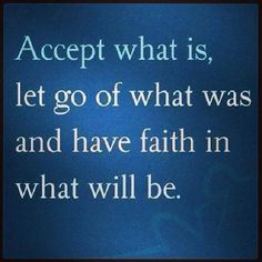 Accept what it is...