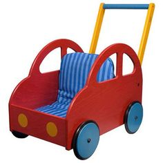 Ready for another lap on the race track? This little push car wagon is sure to become an instant favorite, inspiring your child to stay active with her favorite toys. Made of beech plywood in the shap