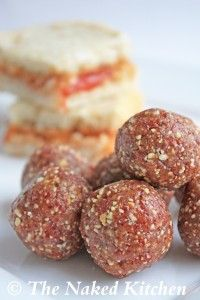 Peanut Butter and Jelly Truffles. Sounds like another idea for nutrition while cycling!