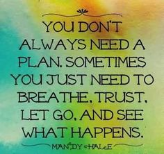 """""""Famous Quotes about Life by Mandy Hale - You don't always need a plan."""""""