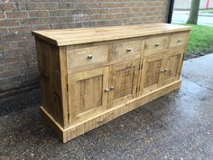 Large Rustic Plank Dresser base.  Ready to deliver.