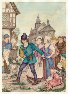 """""""L'oca d'oro""""  F. Grimm   per Edimedia Fi. Ilustrazione di Lucia Campinoti"""
