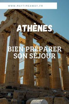 Visiter Athènes en un weekend, 2 ou 3 jours. Voici tous mes conseils pratiques pour préparer au mieux votre voyage ou séjour dans la capitale de la Grèce. Je vous dit où loger, où manger, où admirer les plus beaux couchers de soleil, où aller boire un verre et sortir le soir. Comment préparer au mieux, se rendre dans le centre d'Athènes. Vous avez également accès à mon guide de voyage sur AThènes. #Athènes #visiterathènes #visiterlaGrèce | Visiter la Grèce | Conseils voyage Grèce et Athènes Destinations D'europe, Ligne Bus, Weekend France, Belle Villa, Dit, Broadway Shows, French Government, Beautiful Sunset