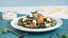 Recept ako pripraviť svieži šalát so syrom feta Feta, Cobb Salad, Recipes, Healthy Lunches, Red Peppers, Eat Clean Lunches, Recipies, Clean Lunches, Ripped Recipes