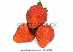 Food & Drinks - Fruits - Strawberries isolated on white background.#foodphotos #stockphotos #healthyfood #foodingredients #fruits #ItalianFood #Shutterstock #bio #naturalfood #eatingwell