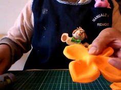 Fiori rose in gomma crepla o foamy con il uso delle stampini o modelatore - YouTube
