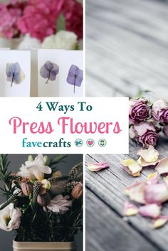 Check out these four methods for pressing flowers! https://www.favecrafts.com/Unexpected-Ideas/Preserving-Flowers-Pressing-Methods-for-Pressing-Flowers/?utm_content=buffer453dd&utm_medium=social&utm_source=pinterest.com&utm_campaign=buffer