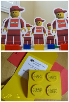 Lego party Lego Themed Party, Lego Birthday Party, 6th Birthday Parties, Boy Birthday, Birthday Ideas, Lego Parties, Themed Parties, Birthday Cakes, Lego Invitations
