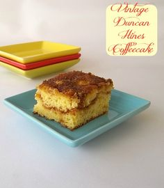 Vintage Duncan Hines Coffeecake  -  Use gluten-free cake mix for two layers.