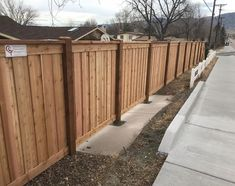 7 Tall Cedar Privacy Fence With 6x6 Posts 2x6 Top Cap 6