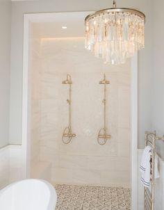 Modern drum chandelier with three prism tiers in bathroom bathroom 27 Gorgeous Bathroom Chandelier Ideas Glass Chandelier, Chandelier Ideas, Chandelier In Bathroom, Bathroom Ceiling Light, Chandelier Lighting, Bathroom Lighting Design, Modern Bathroom Design, Best Kitchen Design, Modern Bathrooms