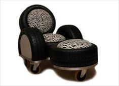recycled tire sofa