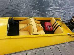 Yellow with Black accents Offshore Boats, Classic Boat, Mercury Outboard, Black Accents, Antique, Yellow, Glass, Fun, Drinkware