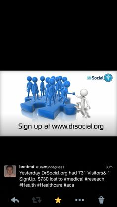 Visit http://DrSocial.org SignUp & they will donate $1 to medical research.  #NIH #FDA #CDC #Vaccine #Research #health #healthcare #SoMe