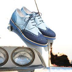 Men's Tritone Denim Wingtip  http://www.deltoroshoes.com/shop/men-s-tritone-denim-wingtip.html