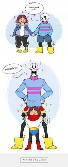 Sans, Frisk, and Papyrus
