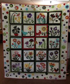 My version of Whimsical Garden Quilt.